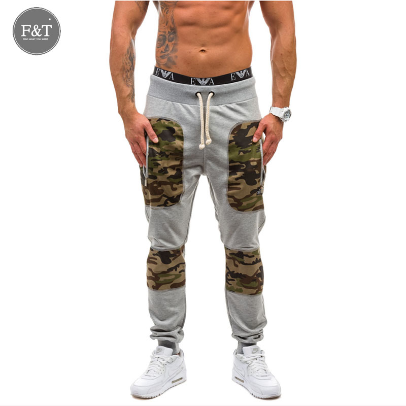 Casual Men Pants Camouflage Fitness Hip Hop Gym Clothing Cargo Pants Work Outdoor Trousers Military Sport Sweatpants Men Joggers
