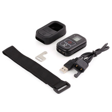 Для gopro hero 5 4 3 + 3 пульт дистанционного управления + силиконовый чехол + зарядное устройство кабель + запястье ремень + Замок (5 В 1 Для Go Pro 4 3 + 3 Аксессуары)