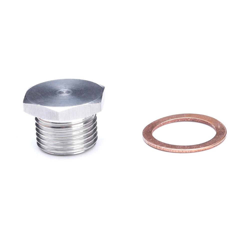O2 OXYGEN SENSOR  PLUG  M18MM X 1.5MM THREAD zinc plated steel bung plug