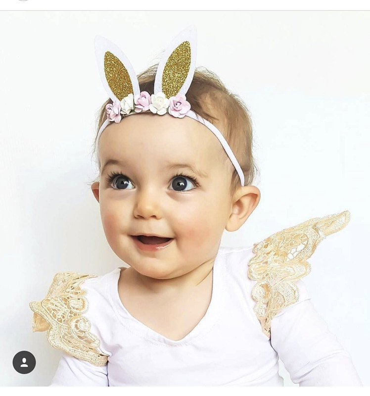 On Sale 1pcs Baby Girls Flower Headband Cute Newborn Toddler Infants Bunny Elastic Hair Bands Accessories Bandeau bebe