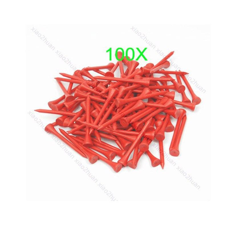 Golf supplies Hot 100Pcs 70mm Red Golf Ball Wood Tee WoodenTees New