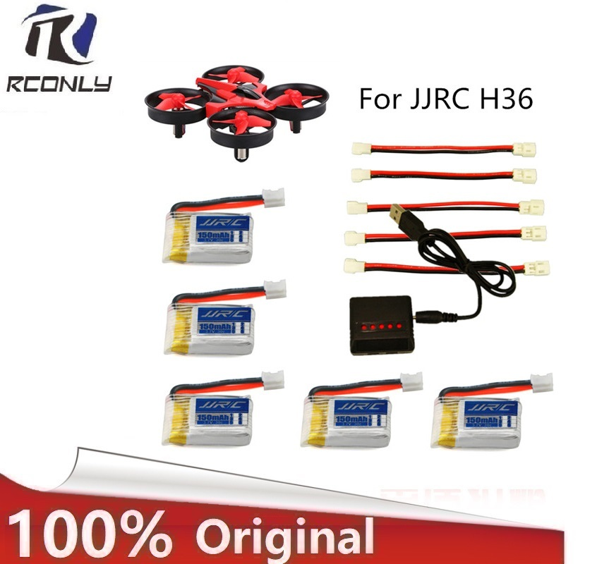 JJRC H36 battery RC Quadcopter helicopter Spare Parts Accessories 3.7V 150mAh Battery and H36 multi- Charger Lipo battery