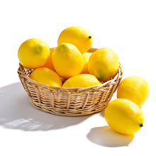 12pcs Simulation Fake Lemon Fruits Artificial Vegetables Fruit Model House Kitchen Party Home Decoration Lemons