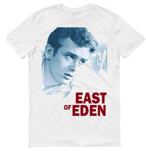 EAST dari Eden, Film, 100% Katun, Men's T-SHIRT., E0348 Musim Panas Leher-o Atasan(China)