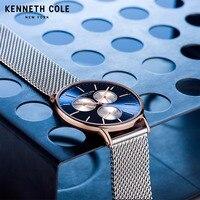 Kenneth Cole мужские часы оригинальные Кварцевые Простой Нержавеющая сталь Тонкий водостойкий Элитный бренд мужской часы KC14946010