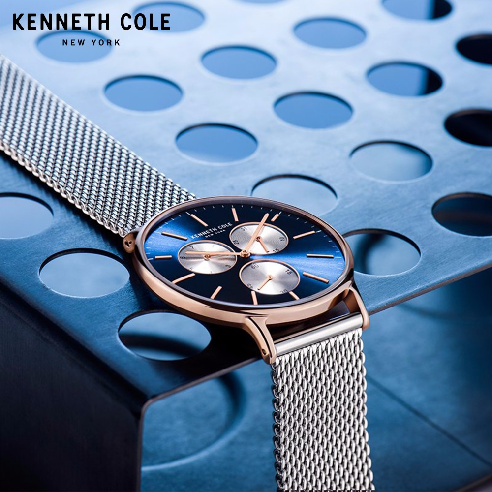 Kenneth Cole Mens часы оригинальные Кварцевые Простой Нержавеющаясталь тонкий Водонепроницаемость Элитный бренд мужской часы KC14946010