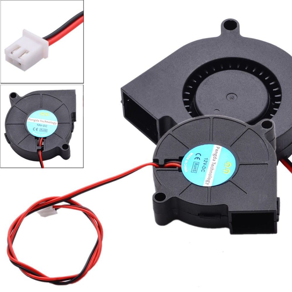 1pc Mayitr DC 12V/24V Blow Fan Radial Hot End Extruder Cooling Fans 50x15mm For 3D Printer Parts