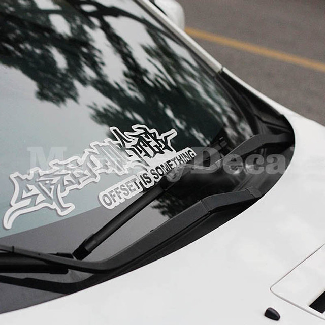 Xgs decal hellaflush car windscreen windshield decal street monster offer is something 57cm x 13cm car