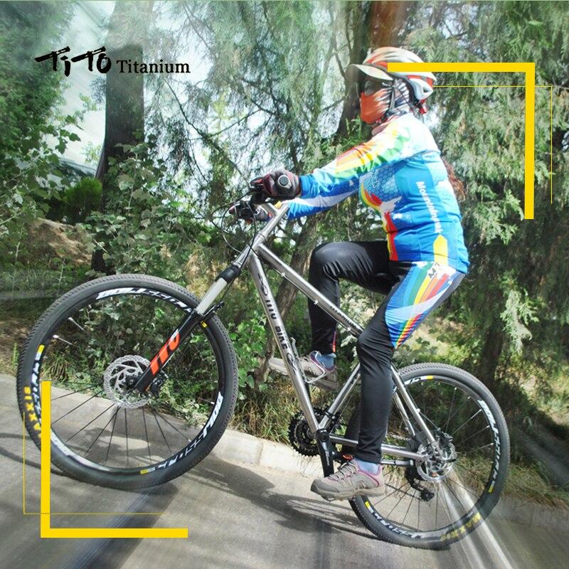 Tito Titanium aleación MTB bicicleta 26 27.5 ruedas M610 trajes 30 ...