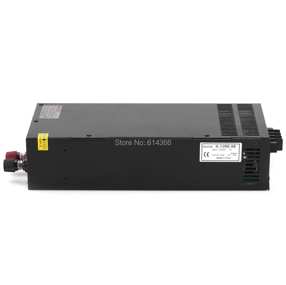 1PCS 1200W 25A 48V power supply 48V adjustable power AC-DC High-Power PSU 1200W S-1200-48 DC48V power hot new nf4eb 48v nf4eb 48v 48vdc dc48v dip15