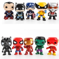 10Pcs/set Avengers 3 Super Hero Figure Characters Marvel Model Vinyl Action & Toy Figures Doll Toys for Children