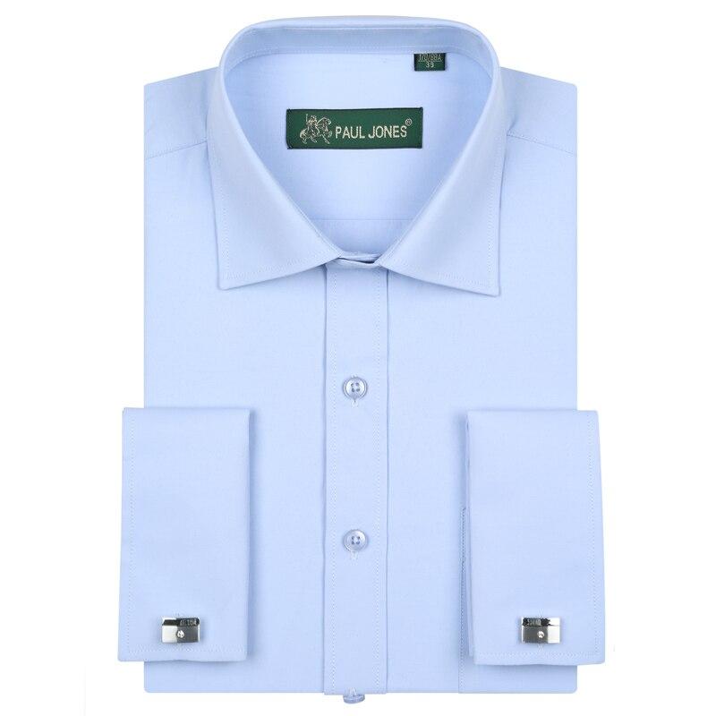 Luxus férfi francia mandzsetták ruha ingek zseb hosszú ujjú - Férfi ruházat