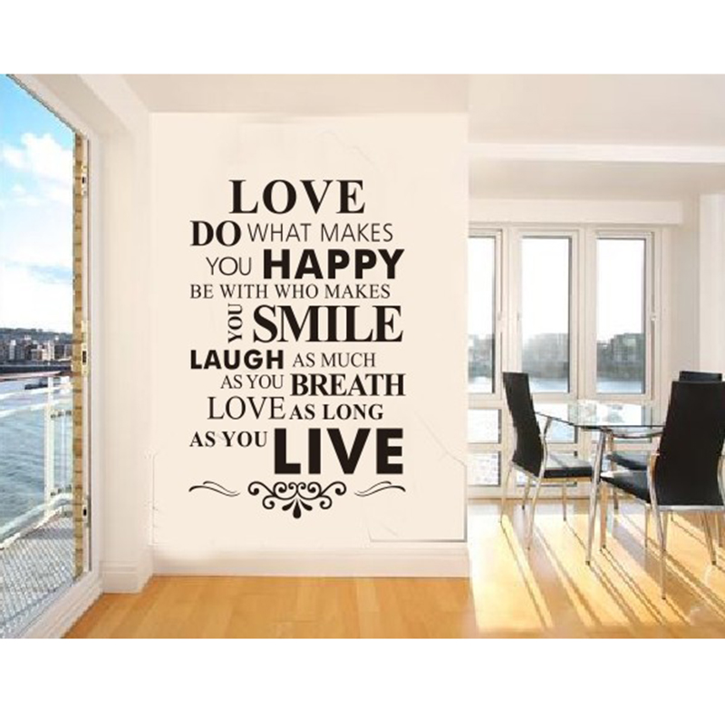 English Love Wall Stickers Living Room Decor Wall Art Love Bedroom Decals  Removable Vinyl Art Decor Wallpaper Words Sayings In Wall Stickers From  Home ...