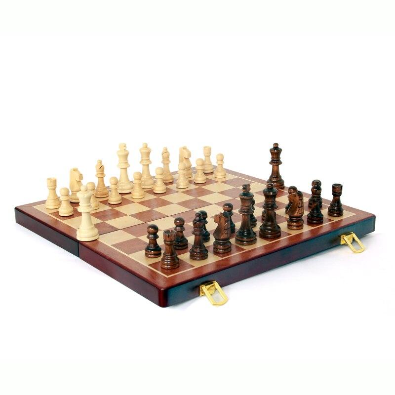 High grade wood folding chess set world chess high quality magnetic chess large high grade imitation mahogany chess wood wpc chess high impact plastic materials