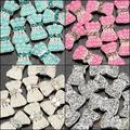 40 PC/lot 3D Del Bowknot Acrílico Nail Art Decoración de Cristal Rhinestone de La Perla de Plata Negro Verde Claro Beige 1H1D 9WMN