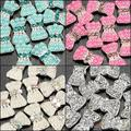 40PC/lot 3D Bowknot Acrylic Nail Art Decoration Crystal Pearl Rhinestone  Black Silver Light Green  Beige 1H1D 9WMN