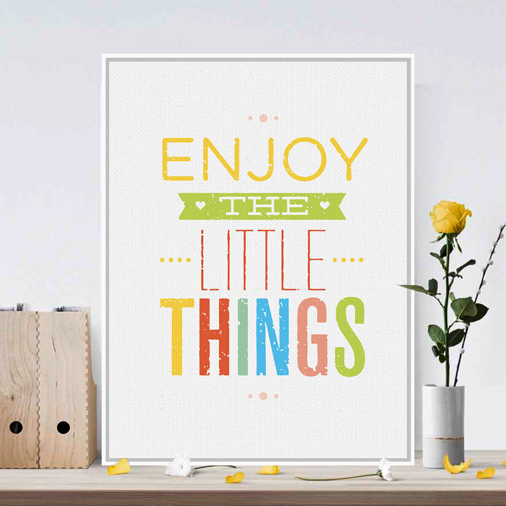Quotes For Kids About Life Motivational Typography Life Quotes Poster English Alphabet Wall