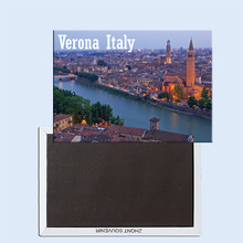 Evening lights in Verona Italy 24411 Fridge Magnet