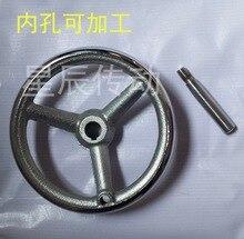 2pcs/lot Diameter:100mm inner hole:10mm. Iron hand wheel  machine tool accessories