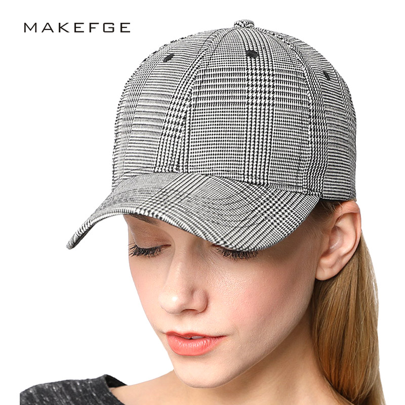 high quality Fashion Brand Plaid hat   cap   ny   caps   Men Women's   baseball     cap   Scottish Fitted Hat Casual Spring Snapback