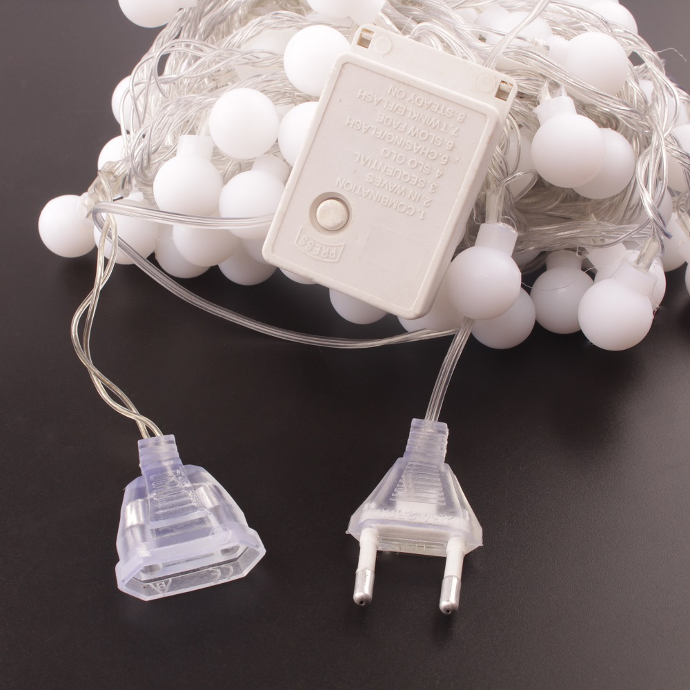 10 m 100 LEDs 220 V IP44 cadenas Led luz al aire libre Luces de hadas guirnalda Luces LED Fiesta de la boda decoración del partido