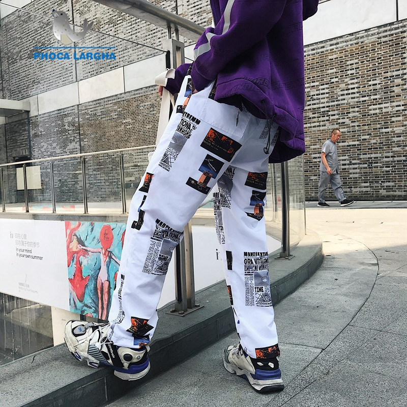 New Men's Harem Pants Graphic Print Pencil Pants Elastic Waist Track Pants Trousers Mens Womens Fashion Joggers Sweatpants Male
