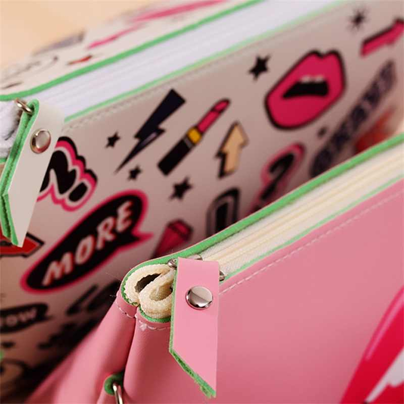 Arsmundi جديد حقيبة مستحضرات التجميل الحديثة فتاة بولي Creative الإبداعية طباعة حقيبة مستحضرات تجميل موضة متعددة الوظائف حقيبة سفر متعدد الألوان حقيبة التجميل