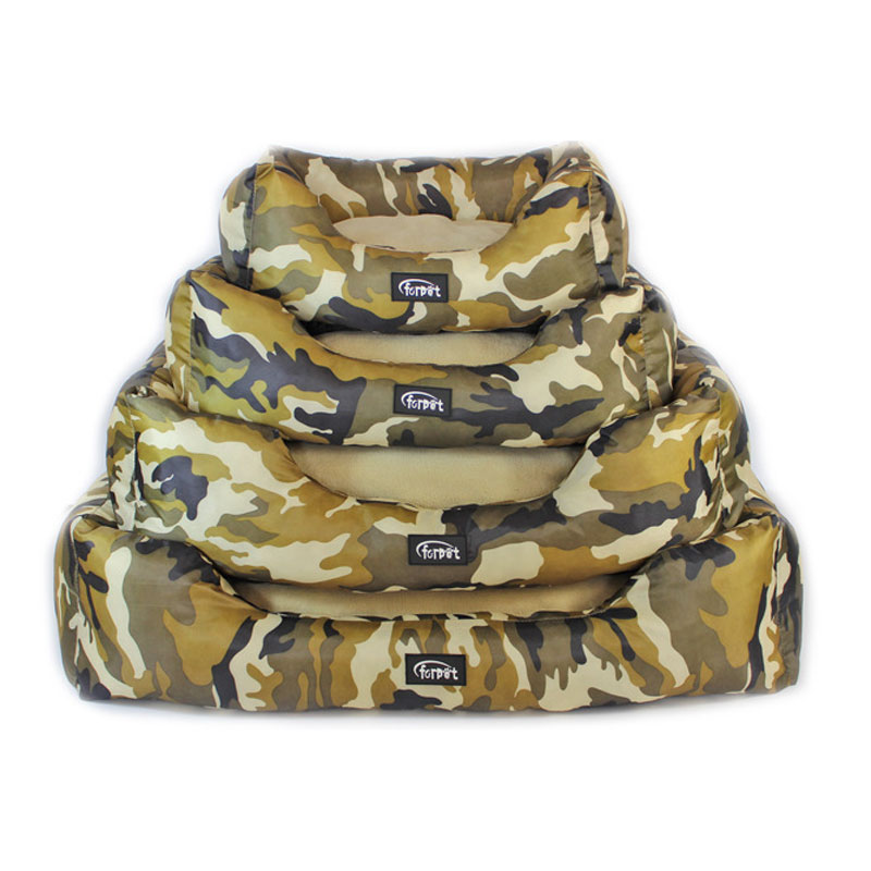 SENYEPETS Four Seasons General Camo Oxford Cloth Pet House Multi size Dogs House Dog Bed Printer Pattern Removable Cover Pet Bed