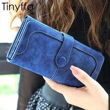 Tinyffa Nubuck leather wallet women luxury brand coin purse bag female clutch bag Handbags dollar price long wallets carteira