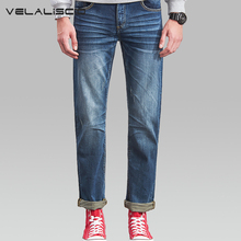 VELALISCIO The Trend Of Straight Young Men 's Loose Jeans Male Spring Summer New Large Size Men Straight Tube Thin Section
