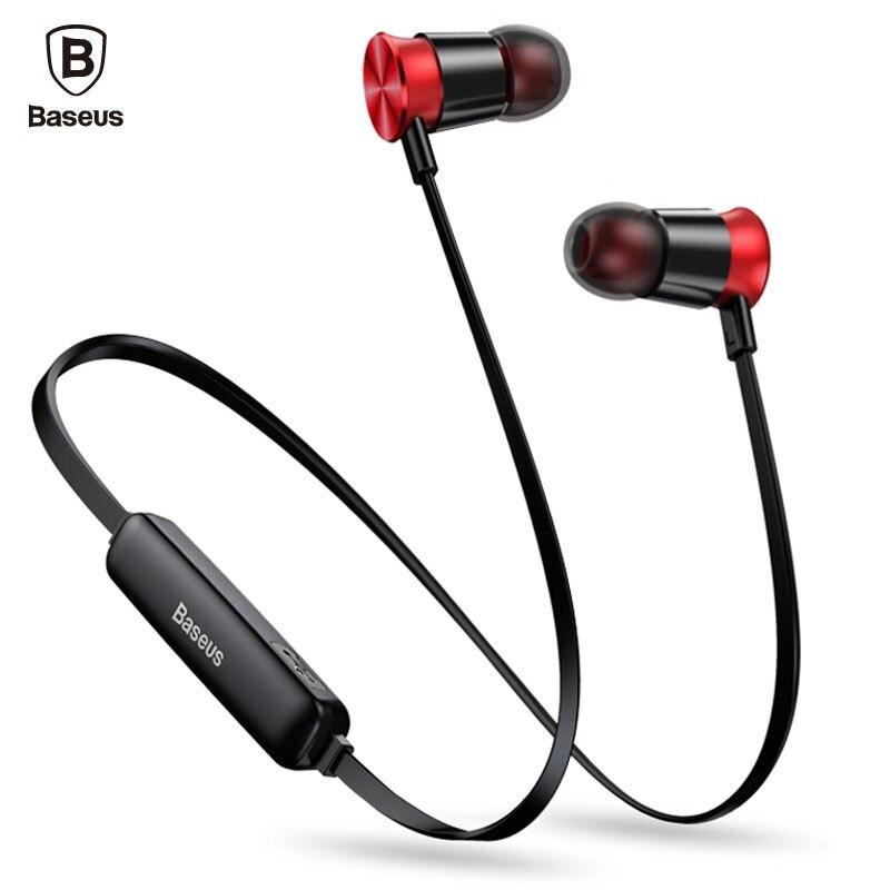 Baseus S07 cuello Wireless Bluetooth auricular Fone de ouvido Auriculares deportes estéreo Auriculares auricular