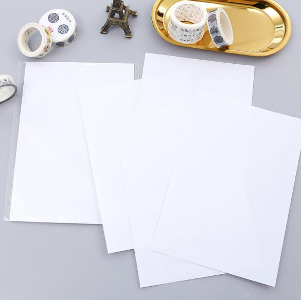 10 Sheets/lot A5 Size White Release Paper For Planner Washi Tape Masking Tape Accessories Scrapbooking DIY Tool
