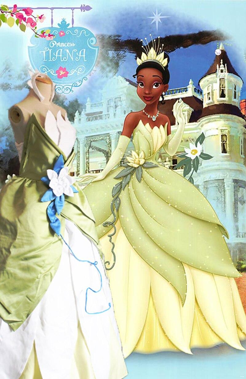 Sensfun fait sur commande Fantasia Halloween femmes fête de mariage Cosplay la grenouille princesse Tiana robe princesse tiana costume adulte