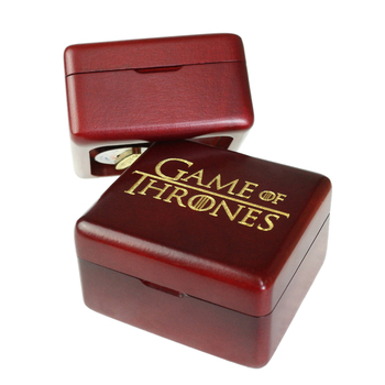 Sinzyo Handmade Wooden Game of Thrones Music Box Wood Carved Mechanism Musical Box Gift For Christmas Valentine's day, Birthday