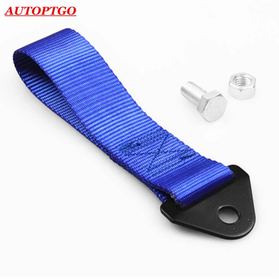 Синий автомобиль гоночный Передний Задний бампер крюк прицеп буксир Буксировка ремешки для Хонда Хендай Toyota Kia Bmw Audi Nissan JDM буксировочный трос