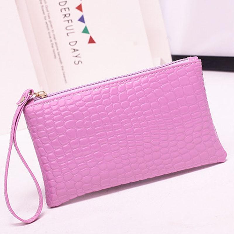 New Mini Day Clutches Women's Bag Korean Version Crocodile Pattern Clutch Bag Ladies Mobile Phone Bags Wallet PU Leather Handbag (2)