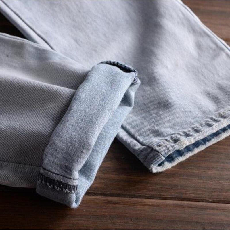 Pour Distrressed Nouveau Casual bleu De Vêtements Mode Salopette Mens Déchiré Denim Jeans Homme Hommes Camouflage Pantalon v7Szvr