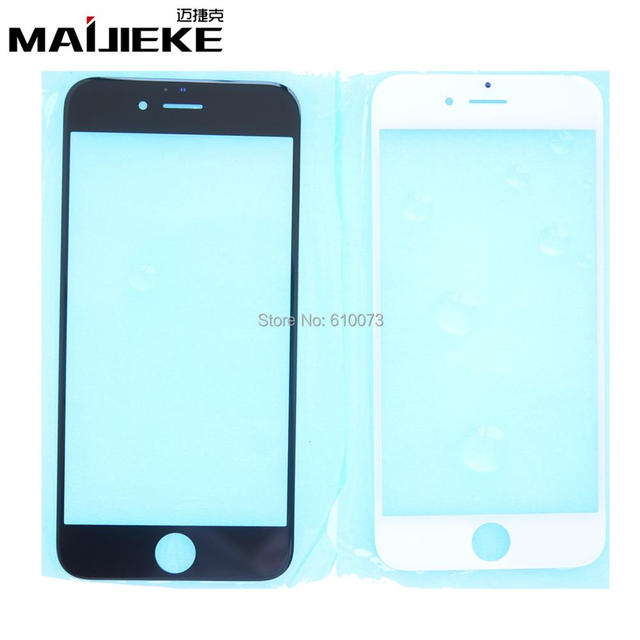 """MAIJIEKE A+ Outer Front Glass Screen Replacement for iPhone 6 6s 4.7"""" Glass Lens Black White 10pcs/lot Free Shipping"""