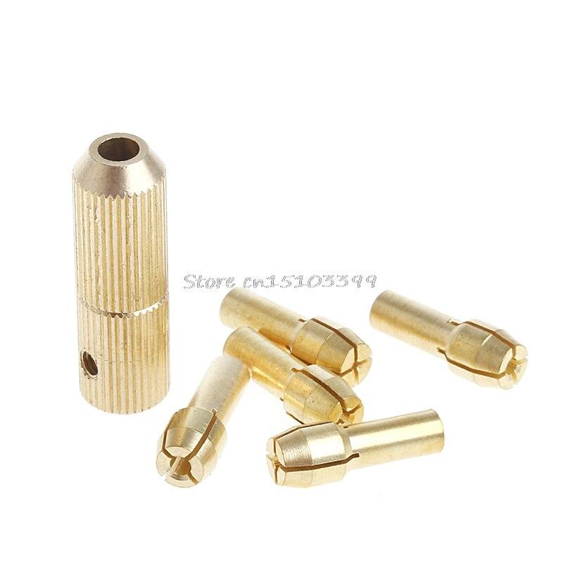 1+5Pcs 0.5-3.0mm Micro Twist Hand Drill Kit Chuck Electric Drill Bit Collet 3.17mm #G205M# Best Quality high quality at the best price 10 unids set 0 5 3 2 mm drill bit collet micro small electric twist drill chuck in september