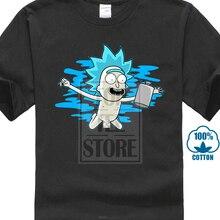 Rick And Morty Shirt Nirvana Rick S 5Xl Graphic T Shirt Cool T-Shirts Designs Best Selling Men