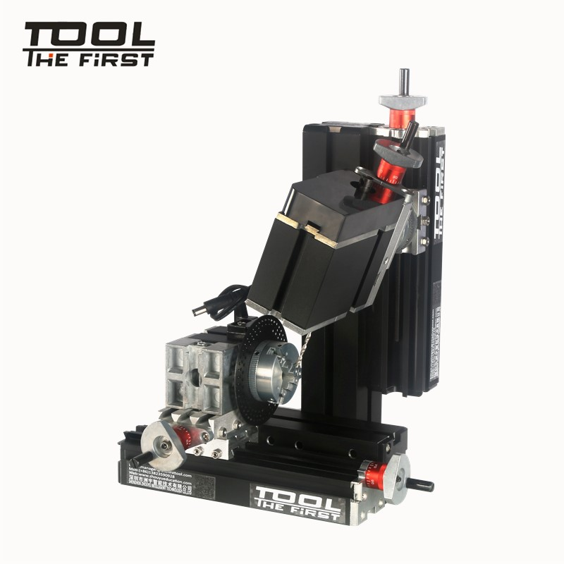 Thefirsttool TZ10002MS Big Power Mini Meta Six-Shafts Drilling and Milling Machine 12000r/min 60W Motor Children DIY Best Gift big power mini metal lathe machine tz20002m best gift for children and students