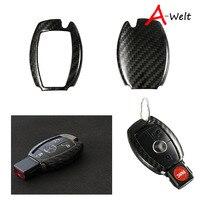 Mercedes benz otomobiller için Karbon Fiber Araba Anahtarı Durumda W212 W205 GLC GLE GLS CLA A C E class araba-styling anahtar Kapak Anahtar çanta moto