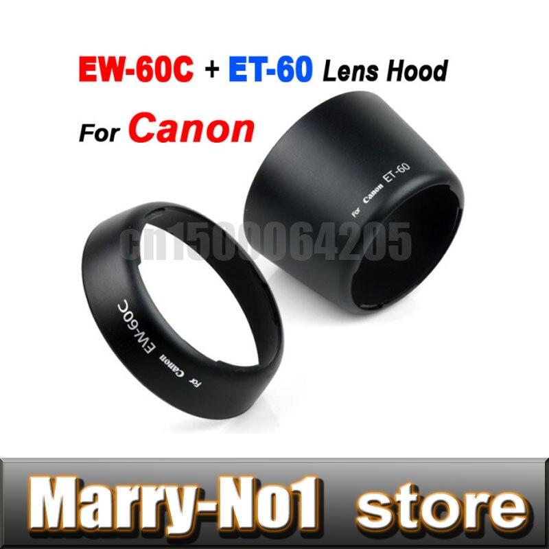 Бесплатная доставка + отслеживая EW-60C + ET-60 БЛЕНДА Набор для CANON EF 18-55 мм и 55-250 мм