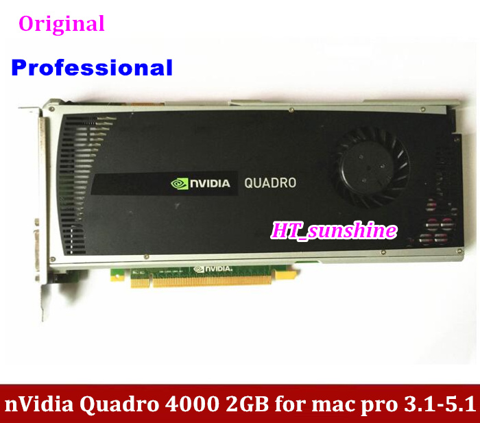 DHL /EMS Free Shipping Original High Quality for Mac Pro nVidia Quadro 4000 2GB Graphics Video Card DVI +DP CUDA (2008-2012) free shipping new hd6850 2gb gddr5 256bit game card hdmi vga dvi port 6850 2gb original graphic card ati radeon for desktop