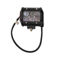 Universal 2PCS 4 INCH 18W Car Headlight 6000k LED WORK LIGHT FOR OFFROAD 4X4 4WD ATV