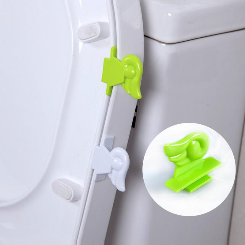 1pc Avoid Touching Sanitary Seat Cover Toilet Seat Lifters Angel WingToilet Seat Cover Sticking Lifter Handle