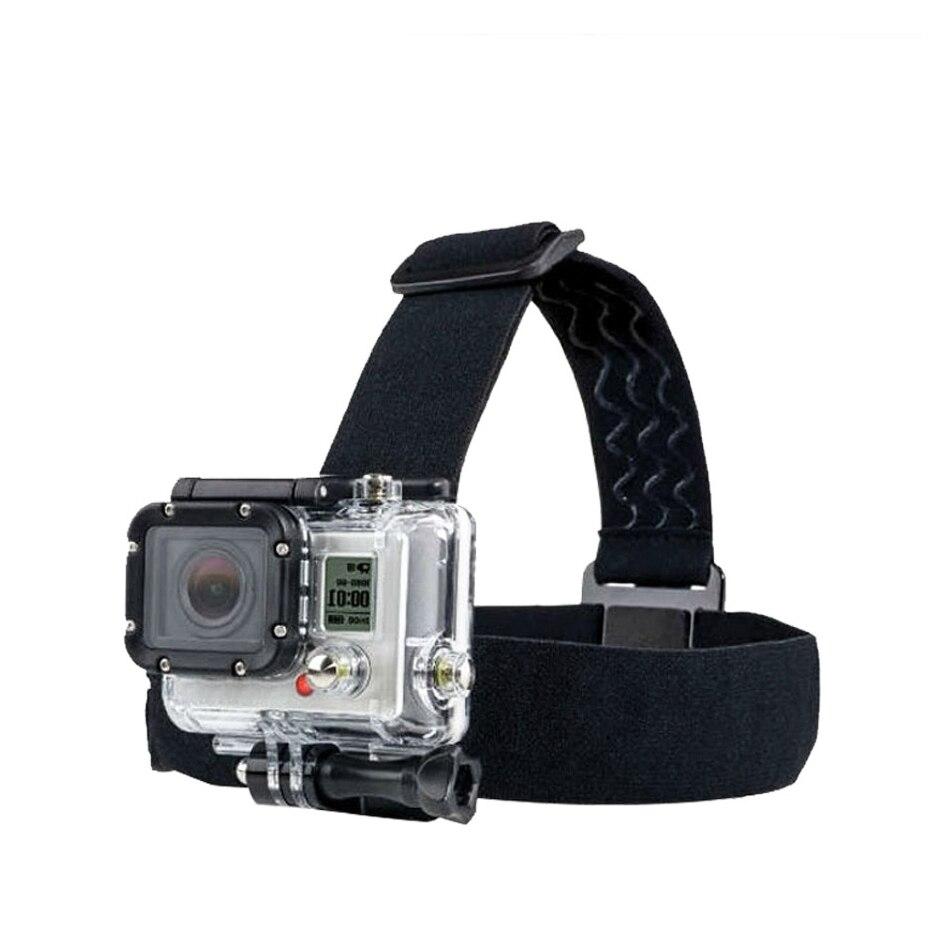Action Camera Accessories for Gopro Elastic Adjustable Head Strap Mount Monopod For Go pro Hero 6 5 4 3 SJCAM SJ5000 Sport Cam