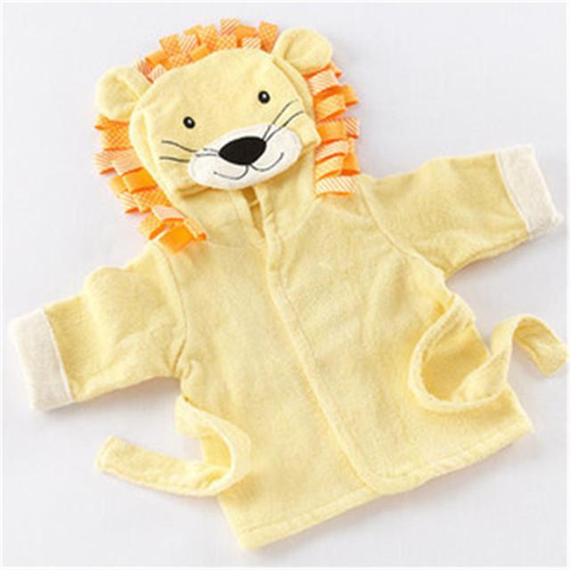 Cobertor do bebê em forma de animais roupões roupões de algodão Roupões de Banho das Crianças C-XBK-YJ-03