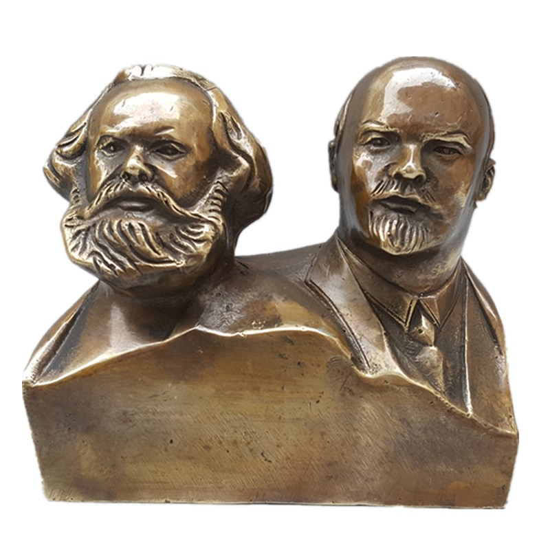 Great Communist Marx And Lenin Bust Bronze Statue Figurines Bronze Craftwork Living Room Office Ornaments L3428