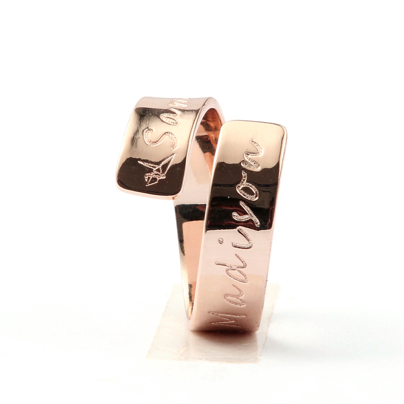 DUOYING Custom Name Ring Rose Gold Color Love Family Personalized Engraved Ring Women Graduation Gift Roller Derby Ring for Etsy